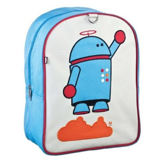 robot starting to fly backpack for kids