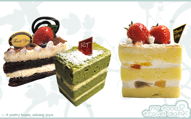 01 Tiramisu Cake Slice 很creamy 的感觉 02 Green Tea 对绿茶没什么大兴趣的版主 觉得这绿茶蛋糕so So 而已 没有很喜欢 也不会不喜欢