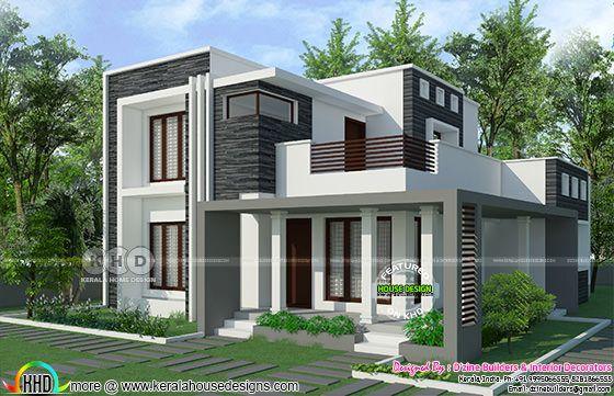 2800 Square Feet 5 Bedroom Flat Roof Modern Home Kerala