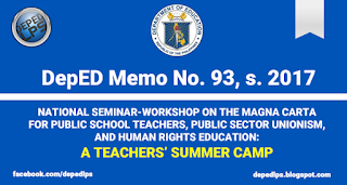DM No. 93, s. 2017: A TEACHERS' SUMMER CAMP