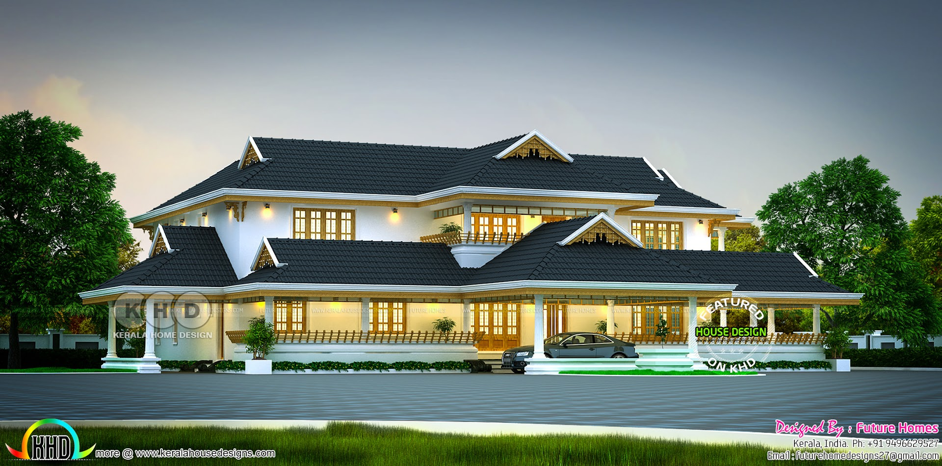 Luxury Traditional Kerala Home 5890 Sq Ft Kerala Home