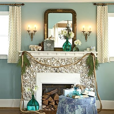decorative rope for Christmas mantel