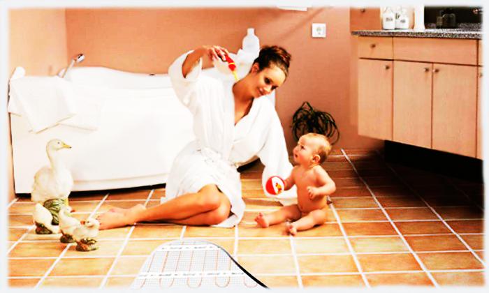 Теплый пол создает дополнительный комфорт в доме