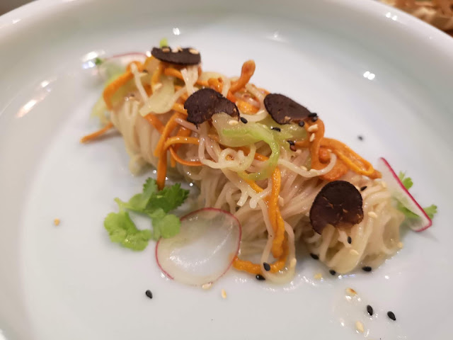 Noodles with Chinese Truffle and Cordyceps Sauce