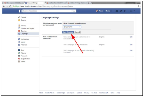How to Change Language in Facebook Mobile & Web Version
