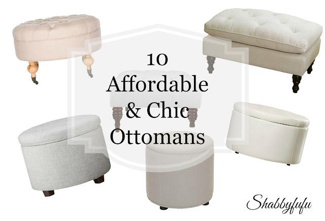 white ottomans cream ottomans