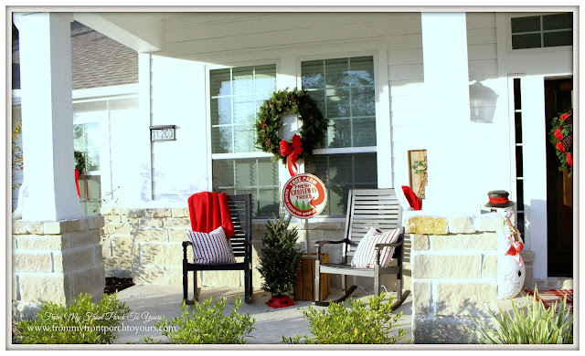 Farmhouse Christmas Porch-Rocking Chairs-Suburban Farmhouse-From My Front Porch To Yours
