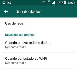 uso de dados no WhatsApp