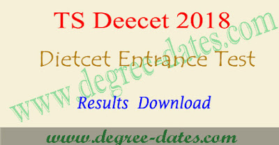 TS Deecet results 2018 dietcet ttc rank cards merit list in telangana