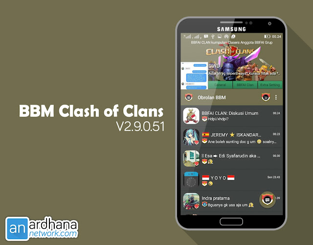 BBM Clash of Clans - BBM Android V2.9.0.51