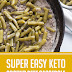 Super Easy Keto Ground Beef Casserole  #keto #groundbeef