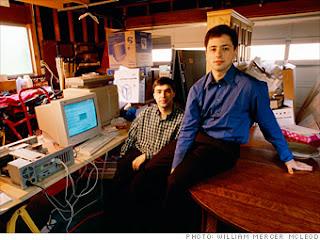 Larry Page & Sergey Brin empresarios importantes