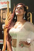 Prajna Actress in backless Cream Choli and transparent saree at IIFA Utsavam Awards 2017 0130.JPG