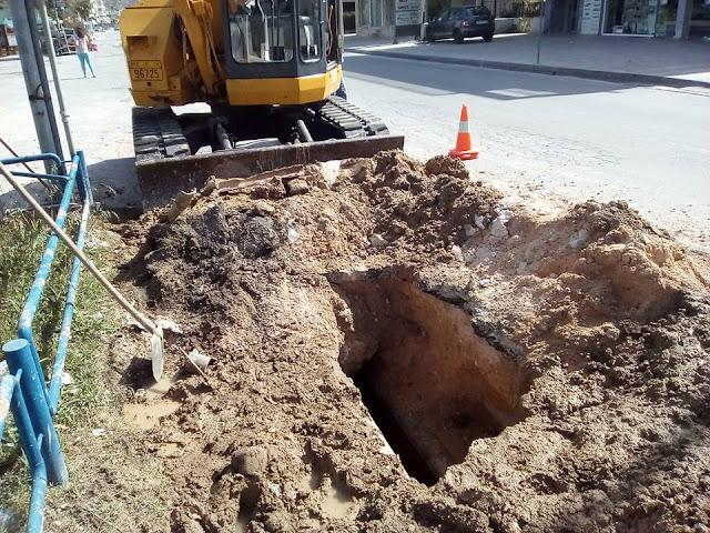 Η Δ.Ε.Υ.Α. Ναυπλίου έδωσε λύση στο πρόβλημα υδροδότησης της οδού Καλαμάτας