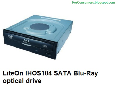 LiteOn IHOS104 SATA Blu-Ray optical drive specifications