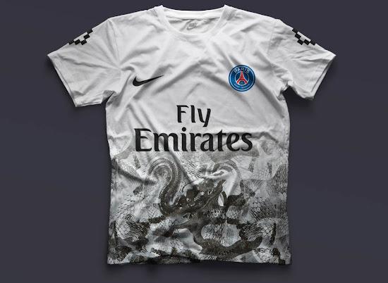 watch 6c37d ba3d4 Five Nike Paris Saint-Germain Concept Kits by mbroidered ...