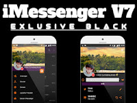 Download BBM IMESSENGER V7 SERIES EXLUSIVE BLACK V3.0.1.25 UnClone Terbaru 2016