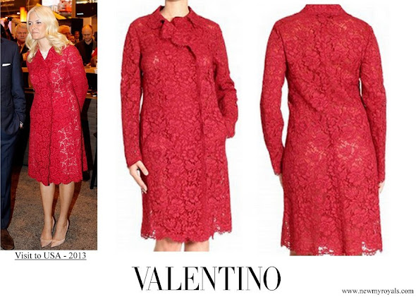 Crown Princess Mette Marit wore Valentino Lace Coat