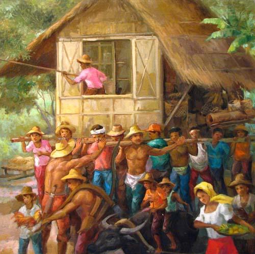 i am pinoy: Bayanihan A Filipino way of helping hand