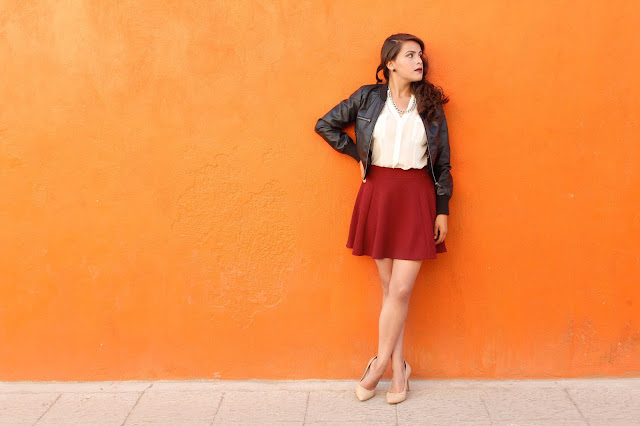 Burgundy Skirt!