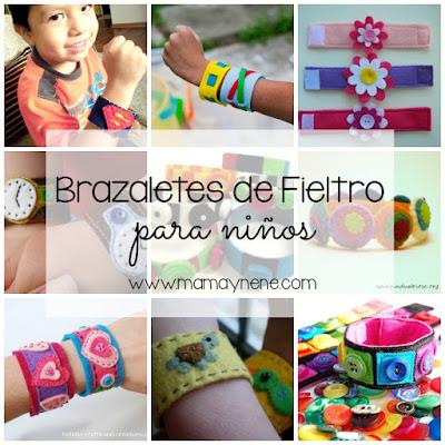 BRAZALETE-FIELTRO-BRACELET-NIÑOS-KIDS-DIY-MANUALIDADES-FELT-MAMAYNENE
