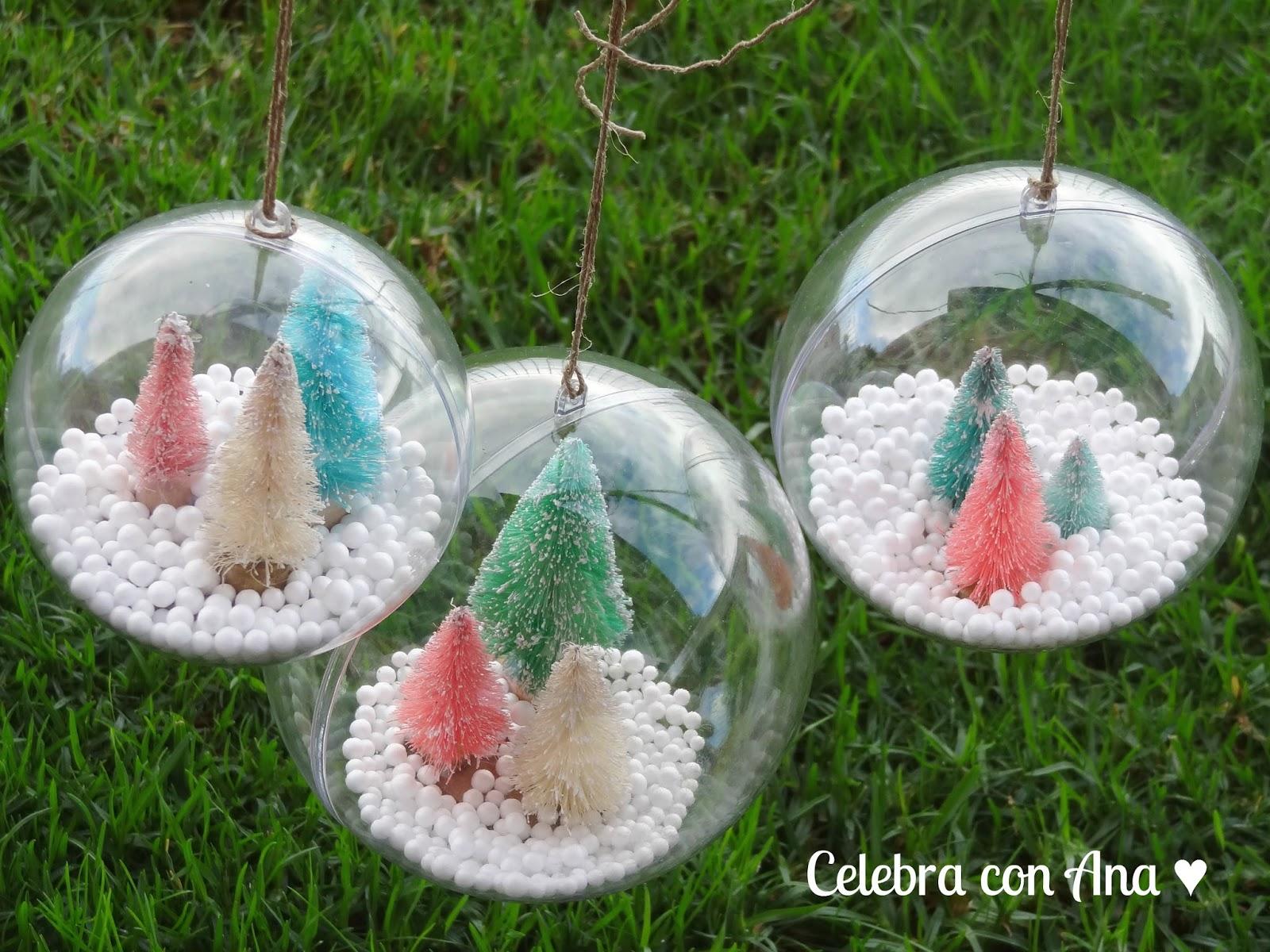 Celebra con ana compartiendo experiencias creativas bolas transparentes de navidad - Bolas navidad transparentes ...