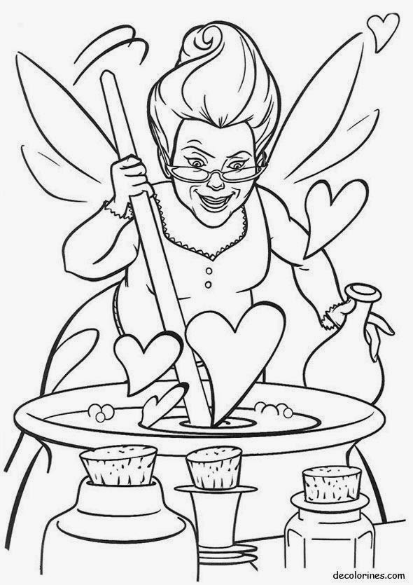 www coloring pages to print   Maestra de Infantil: Shrek y Fiona. Dibujos para colorear.