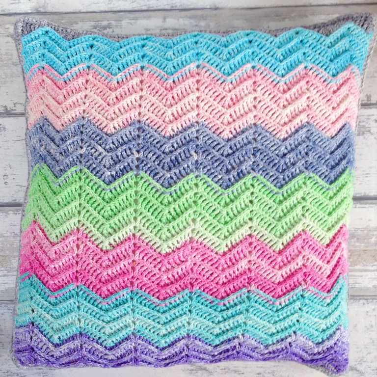 Textured Chevron Cushion FREE crochet pattern by Miss Neriss