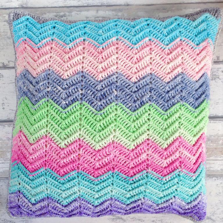 Textured Chevron Cushion FREE crochet pattern by Miss Neriss