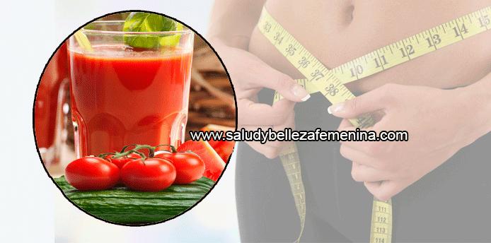 jugo de tomate de arbol y pepino para adelgazar