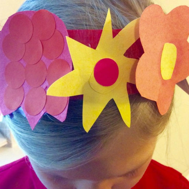 Frida Kahlo flower crown- Explore famous artists for kids
