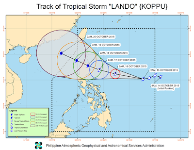 Bagyong Lando toward northern Luzon - October 15, 2015