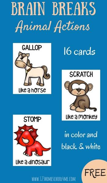 Free Brain Breaks Cards