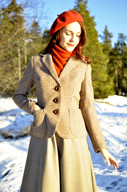 Repurposed jacket made out of a men's jacket by Cherise