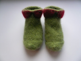 chausson tricot laine feutrée