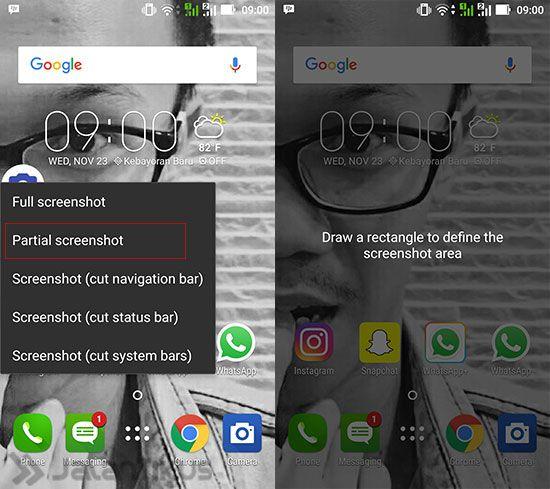 Cara Screenshot Sebagian Layar di Smartphone Android 4
