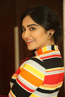 Adha Sharma in a Cute Colorful Jumpsuit Styled By Manasi Aggarwal Promoting movie Commando 2 (97).JPG