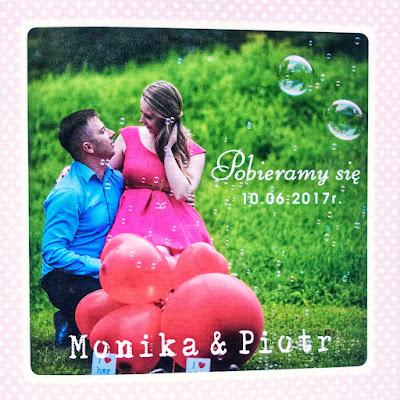 zaproszenia ślubne, projekt zaproszeń,zaproszenia kropki, para młoda, zaproszenia ze zdjęciem