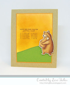 Bear Hugs card-designed by Lori Tecler/Inking Aloud-stamps and dies from Mama Elephant