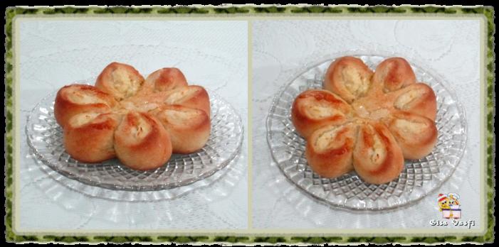 Pão recheado com queijo cremoso 7