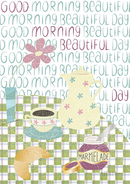 Good morning beautifull day, Illustration