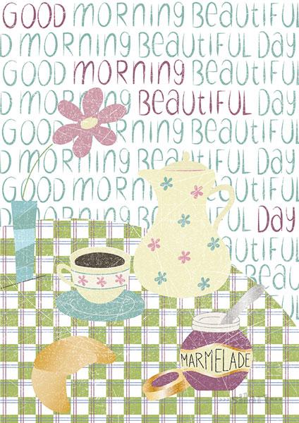 Good morning beautifull day, Illustration