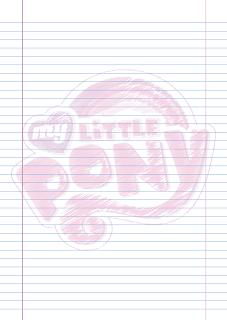 Folha Papel Pautado Logo My Little Poney rabiscado em PDF para imprimir na folha A4