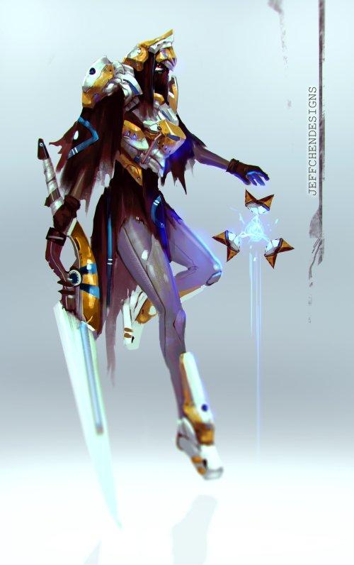 Jeff Chen artstation deviantart arte ilustrações fantasia ficção games cavaleiros guerreiros medievais futuristas