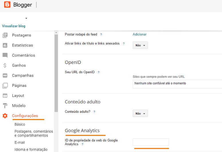 Google Analytics e suas funções