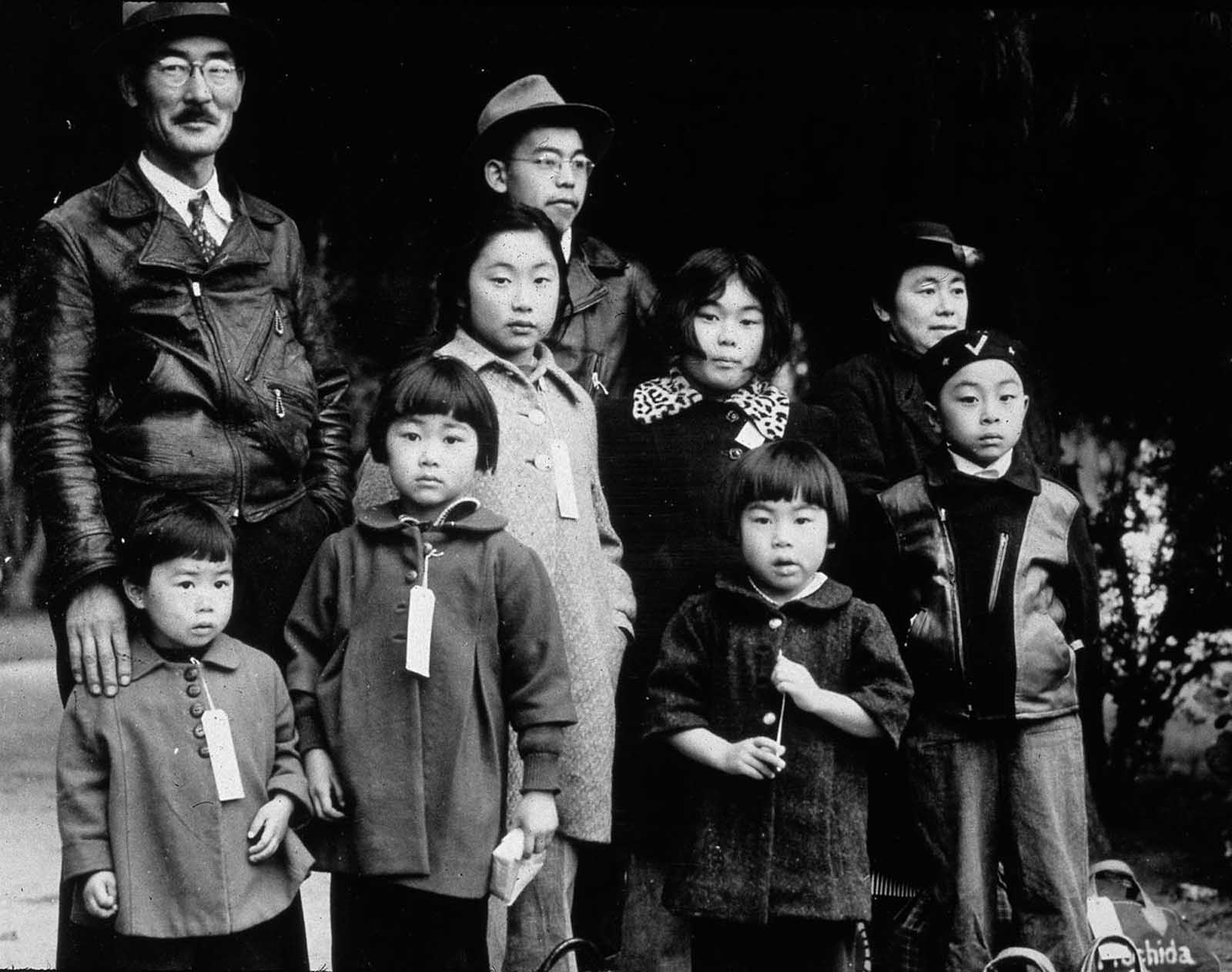 The Mochida family of Hayward, California, await relocation.