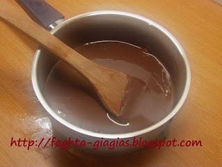 Γλάσο σοκολάτας (Ganache) βασική συνταγή - από «Τα φαγητά της γιαγιάς»
