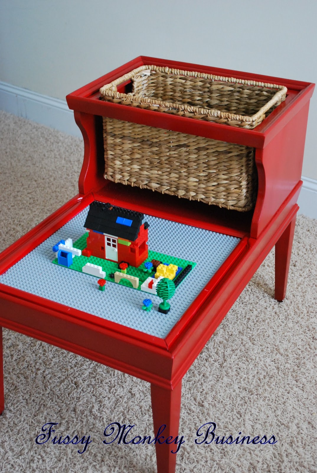fussy monkey business lego table. Black Bedroom Furniture Sets. Home Design Ideas
