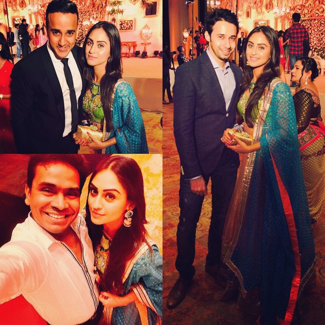with these three 😎😎😎 !!!, Krystle Dsouza Pics from Karan Patel, Ankita Bhargava Wedding