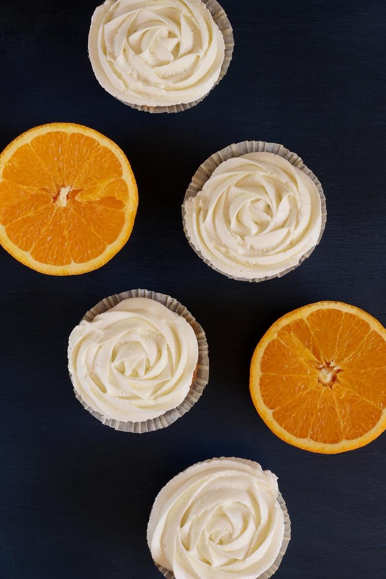 Mandarinen-Orangen-Quark-Cupcakes 2